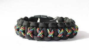 SENC 550/275 Paracord Bracelet With Whistle Buckle - Pride Rainbow X