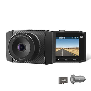"YI 2.7K Ultra Dash Cam with 2.7"" LCD Screen, Dual-Core Processor, MEMS 3-axis G-Sensor, Voice Control and Night Vision"
