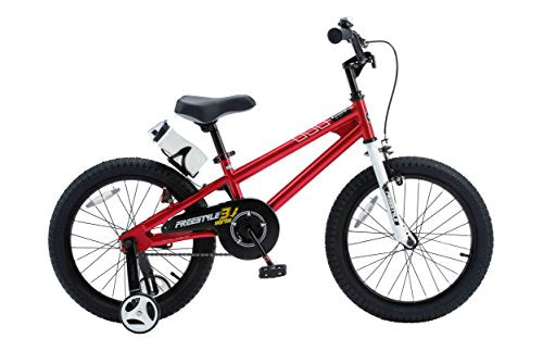 RoyalBaby BMX Freestyle Kids Bike, Boy's Bikes and Girl's Bikes with training wheels, Gifts for children, 16 inch wheels, White