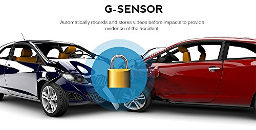 AutoLover® Mini Car DVR Camera Full HD 1080P DCR Detector Recorder Camcorder Parking Recorder Dash Cam Video G-sensor (Blue)