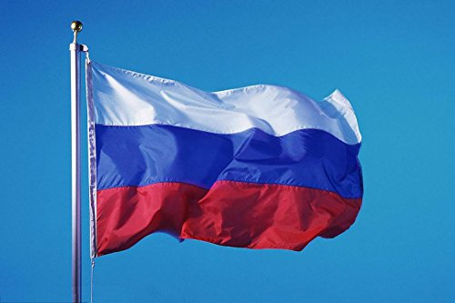 Russia Flag 5x3FT/150x90cm Polyester National Flag Perfect for Outdoor & Indoor