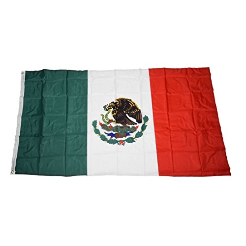 SODIAL(R) Mexico Flag 5ft x 3ft