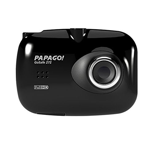 PAPAGO GS260-US Gosafe 260 Auto Dimming Rear View Mirror with Full HD 1080P Dashcam with 2.7-Inch LCD, Black