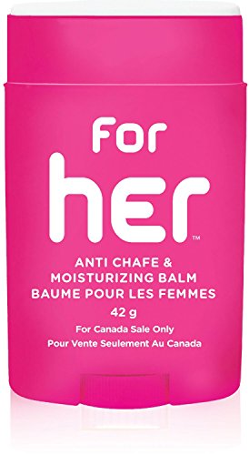 Body Glide for Her Moisturizing Anti Chafe Balm Stick (for Canadian Sale Only), 22g, Magenta