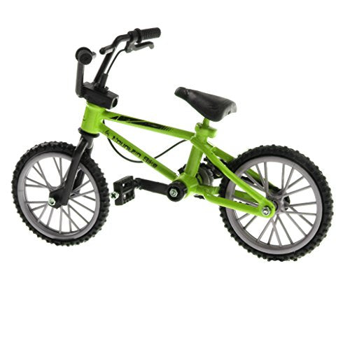 Fityle 1:24 Scale Green Mini Finger Bicycle, BMX Cyclo-cross Bike with Repair Kit, Kids Diecast Toy
