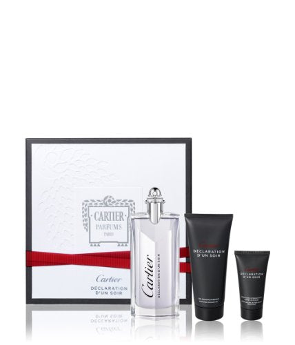 Declaration dun Soir Coffret: Eau De Toilette Spray 100ml/3.3oz + Shower Gel 100ml/3.3oz + After Shave Emulsion 30ml/1oz