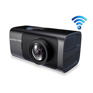 AUTO-VOX D6 WiFi Dash Cam, Dash Camera with GPS FHD 1080P Night Vision Car Dashboard Camera Driving Recorder with 165 Wide Angle, G-Sensor