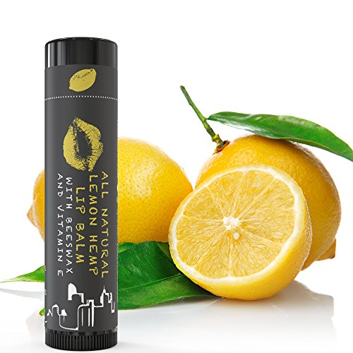 100% Natural Lip Balm Beeswax - Best for Lip Repair and Lip Treatment with Olive & Almond Oil, Calendula & Vitamin E. A Great Chapstick for Dry, Chapped, Cracked Lips or Dead Skin by LOVETICA. (4 Pack)