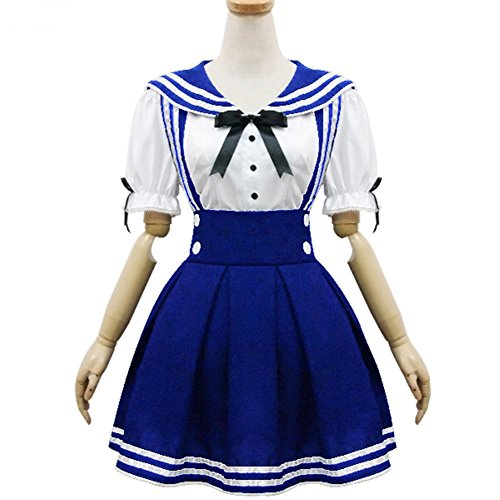 Cosplay Costume Anime Girl Maid Sailor School Lolita Dress