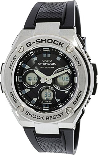 Casio Men's G-Shock GSTS310-1A Black Polyurethane Japanese Quartz Sport Watch