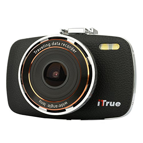 ITrue X3 Dash Cam,2.7Inch LCD,1080P,170 degree Angle,Night Vision and 8GB Card