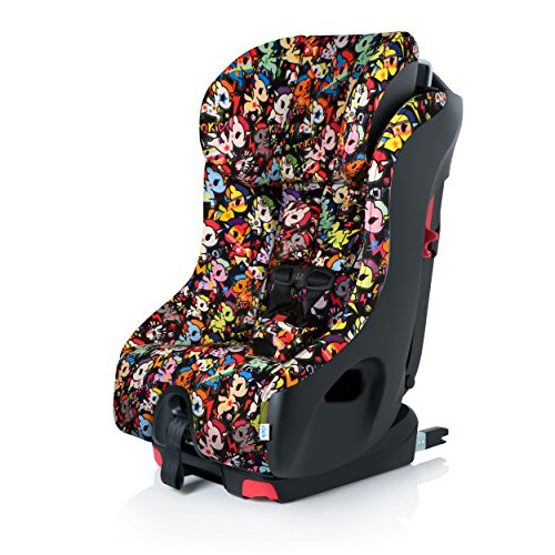 Clek Foonf Rigid Latch Convertible Baby and Toddler Car Seat, Rear and Forward Facing with Anti Rebound Bar, Flamingo 2017