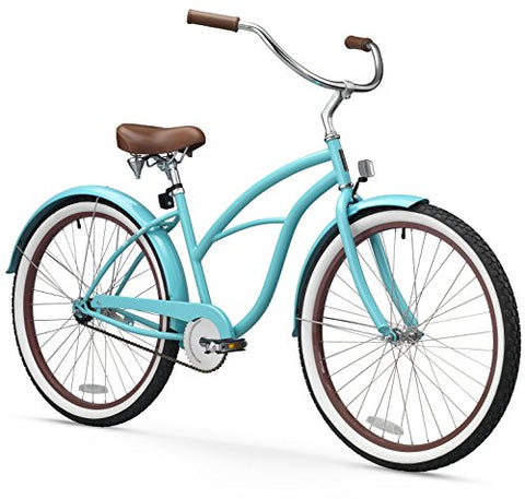 "sixthreezero 630010 Women's 1-Speed 26"" Beach Cruiser Bicycle, Teal Blue"