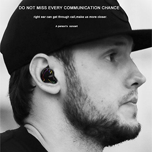 Wireless Earbuds with 750 mAh Portable Charging Box, LEZII TWS Personalized Design Truly in-Ear Bluetooth Earphones with Microphone Cordless Bluetooth Earbuds Noise Cancelling Sweatproof (Black)