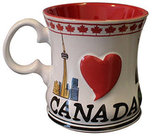 Load image into Gallery viewer, Canadian Souvenir Mug (Coffee, Cider, Hot Chocolate, Tea Cup) (Inuit Carving & Colorful Map of Canada, 1)