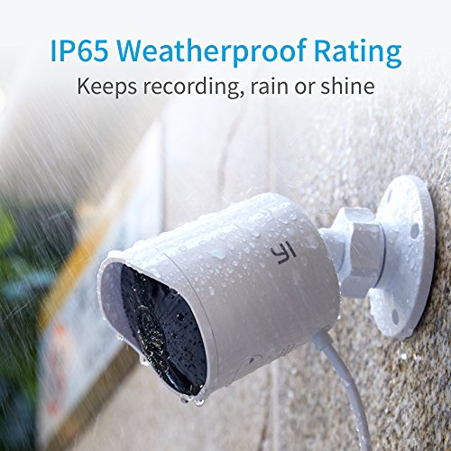 YI Outdoor Security Camera, Cloud Cam Wireless IP Waterproof Night Vision Security Surveillance System - iOS, Android App Available