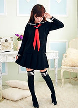 Load image into Gallery viewer, WOTOGOLD Anime Cosplay Costume Navy Sailor Uniform Black Students School Uniforms