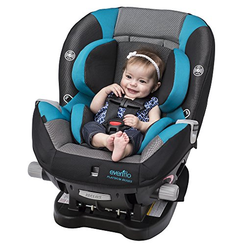 Evenflo Triumph LX Convertible Car Seat, Fischer, Grey, Teal, One Size