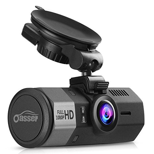 Oasser Dash Cam Car Full HD 1080P Dashboard Camera Dash Cam for Cars with G-Sensor 170° Angle Night Vision Loop Recording Mute Function GPS Supporting 1.5
