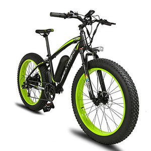 VTSP XF660 Fat Tire Ebike Snow Bike Mountain Bike For Man with Motor 1000W 48V 16AH Samsung Lithium Battery Shimano 7 Speeds System 4.0 inch Fat Tire Suspension Fork Dual Disc Brakes High quality gift For Man