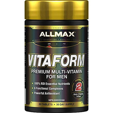 Allmax Nutrition - VITAFORM - Premium - Performance Multi-Vitamin for Men - 30-day Supply - 60 Count