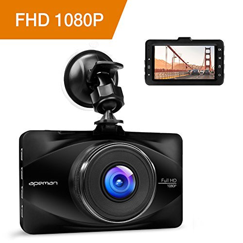 APEMAN Car Dash Cam 1080P FHD Driving Video Recorder 170°Wide Angle WDR Dashboard Camera with 3 inch LCD, Motion Detection, Parking Monitor and G-sensor