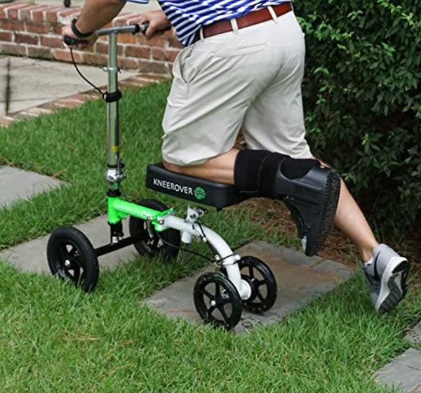 NEW KneeRover GO HYBRID - Most Compact and Portable Knee Scooter with ALL TERRAIN Front Wheels
