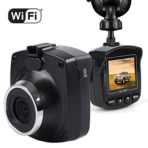 "Dash Cam with WiFi, Maxesla 1080P dash camera for cars Full HD Dashboard Car Recording Camera 170 Wide Angle 1.5"" Screen with G-Sensor Loop Recording Motion Detection, WDR Night Vision Parking Monitor"