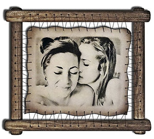 Gay Wedding Gift LGBT Lesbian Gifts Groom Loves Groom Gay Marriage Gays Anniversary Gay Engagement Gay Friend Presents Gay Valentines Day - RARE Hand Drawn Pyrography Technique