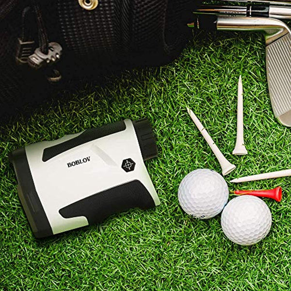 BOBLOV 650Yards Golf Rangefinder with Pinsensor 6X Magnification Distance Speed Measurement Range Finders Pluse Vibration and USB Charging (LF600G Without Slope)