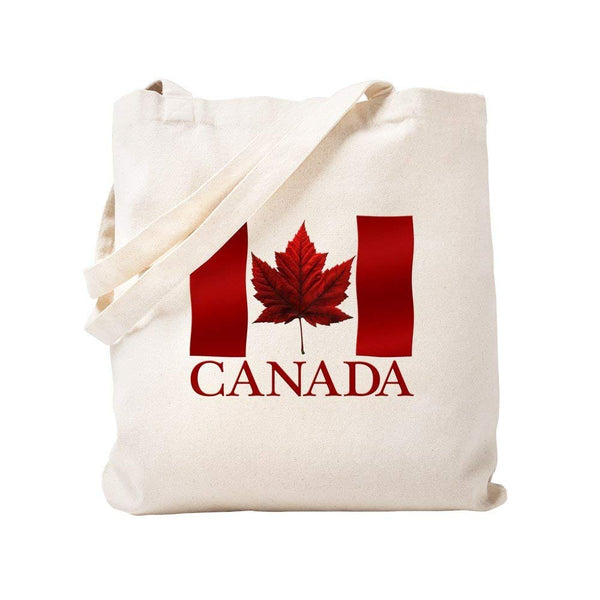 CafePress - Canada Flag Souvenirs Canadian Maple Leaf Gifts To - Natural Canvas Tote Bag, Cloth Shopping Bag