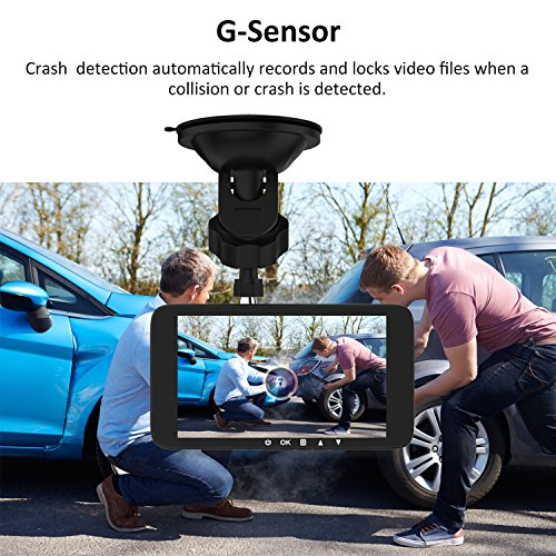 "4.0"" Car Dash Cam, Full HD 1080P Dash Camera, Front + VGA Rear 290 Degree Super Wide Angle Dashboard Camera with G-Sensor, Loop Recording, Parking Monitoring, Motion Detection etc"