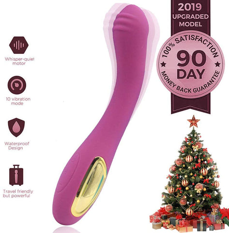 24 Hours vibrators Therapy Point Exercise Valentine Skin-Friendly Physical Therapy Work Dual Motor toyswomen 10speed Physical USB Cable Massage Waterproof Rechargeable (Purple) (purple)