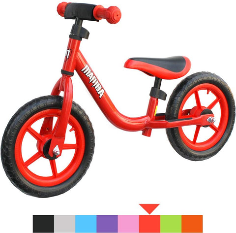 "Mamba Sport 12"" Balance Bike with Handlebar Pad - 8 Colours to Choose from"