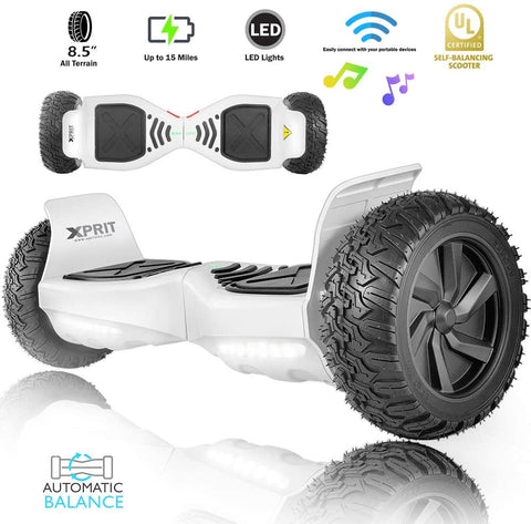 "XPRIT 8.5"" Wheel Hoverboard w/Bluetooth Speaker - All Terrain (Black)"
