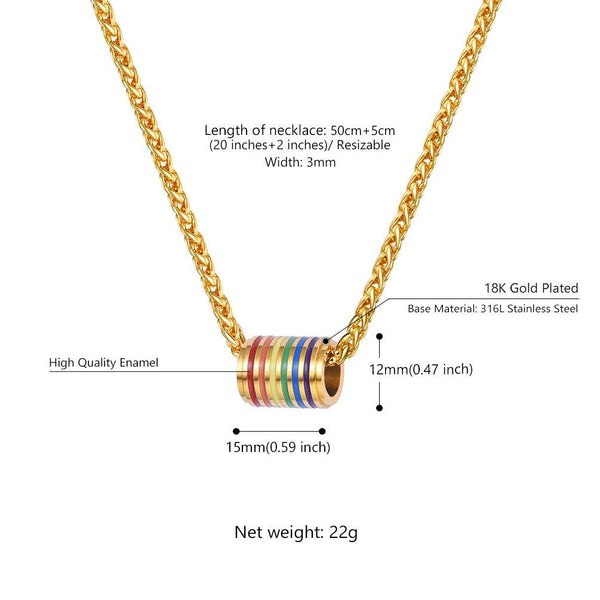 PROSTEEL Gay Pride Necklace,Rainbow,LGBT Jewelry,Love Wins,Equality Necklace,Inspirational Jewelry,Friendship Necklaces,Gift for Him