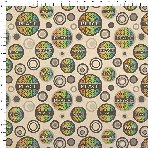 Peace Rainbow Gay Lesbian Kraft Present Gift Wrap Wrapping Paper