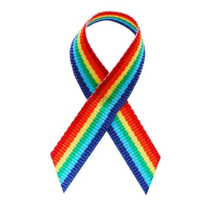 Rainbow Fabric Awareness Ribbons - Bag of 250 Fabric Ribbons w/ Safety Pins