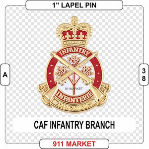 "CAF Infantry Badge Lapel Pin Canadian Armed Forces Army 1"" mini badge - A 38"
