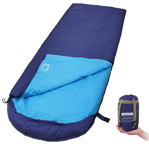 SONGMICS Sleeping Bag with Hood Compression Sack