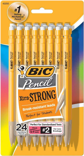 BIC Xtra-Strong Mechanical Pencil, Colorful Barrel, Thick Point (0.9mm), 48-Count