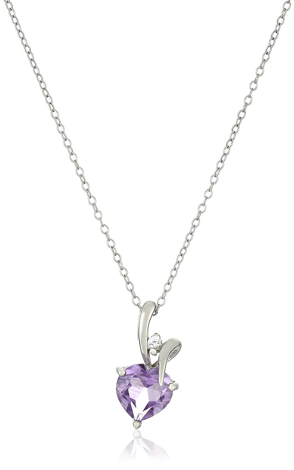 Sterling Silver Gemstone Pendant Necklace