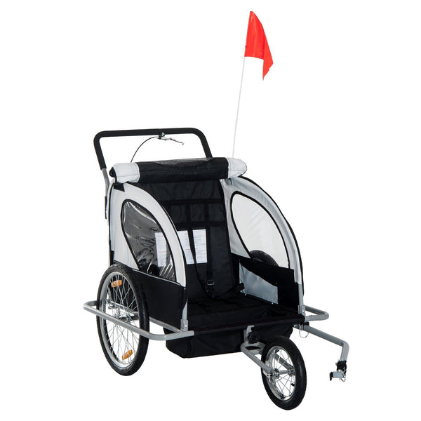 Double Baby Bike Trailer Stroller Jogger