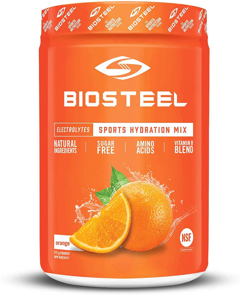 Biosteel High Performance Sports Drink Powder, Naturally Sweetened with Stevia, Orange, 140 Gram