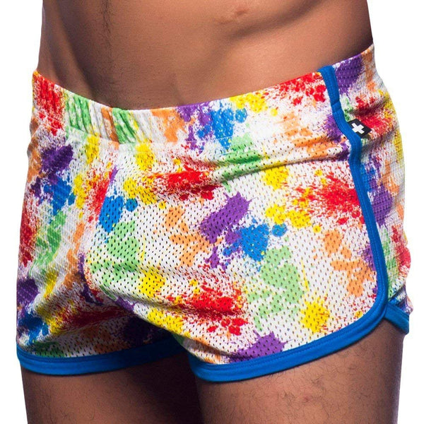 Pride Splash Mesh Jogger Shorts