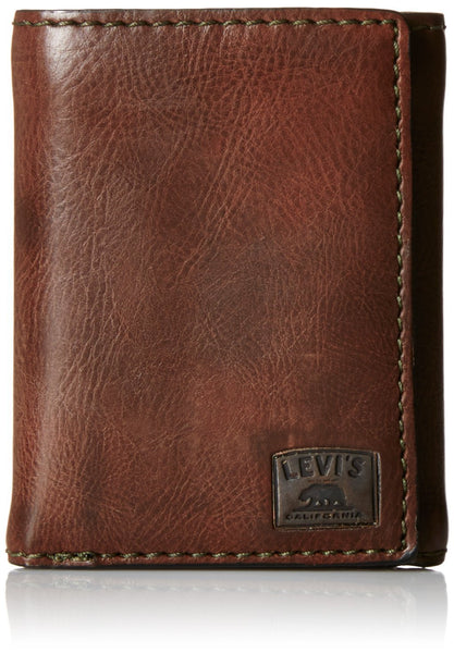 Levi's Men's Trifold Wallet with Stitch Detail