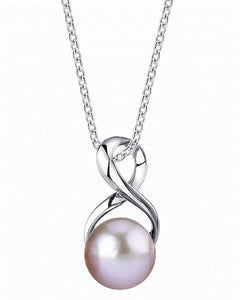 9mm Freshwater Cultured Pearl Infinity Pendant
