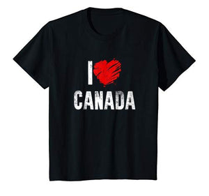 I Love Canada Country: Canadian Pride Patriotic Gift T-Shirt