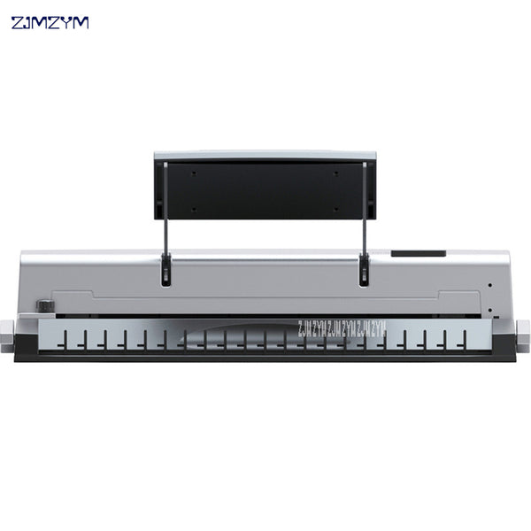A4 Paper Binding Machine Wire Binding Machine Punch Machine 21/19 Holes 8 Sheets Punching, 95 Sheets Binding Support 12mm Wire