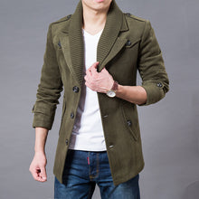 Load image into Gallery viewer, Autumn Winter Fashion Men Wool Coat